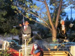 Halloween Recap:  Presidents v. Zombies–Our Best Yard Ever
