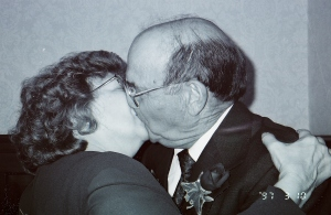 Mom and Dad were never afraid to show us they loved each other--another gift!